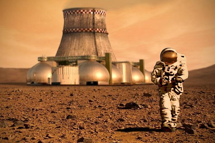 אילוסטרציה של מושבה אנושית במאדים