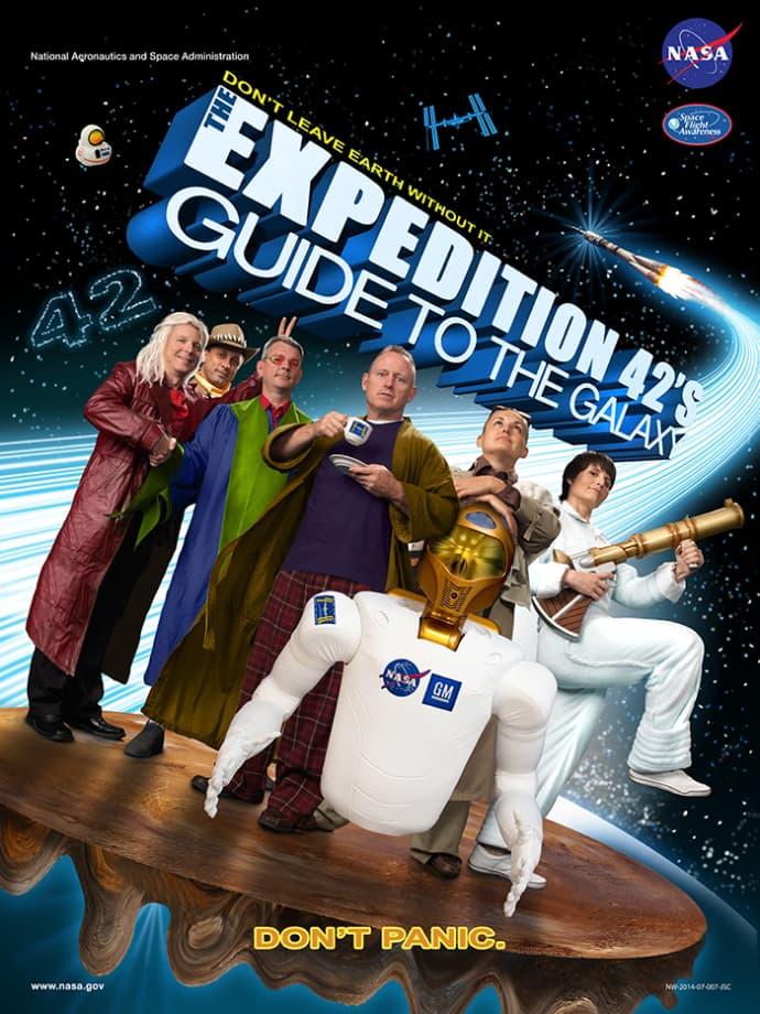פוסטר אסטרונאוטים במשימה 42