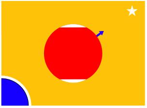 דגל מאדים של תומאס פיין. קרדיט: MQMagoo