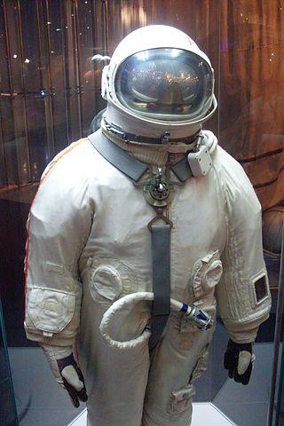 חליפת בֶרקוּט, במוזיאון הזיכרון לאסטרונאוטיקה במוסקבה | צילום: Armael/Wikimedia
