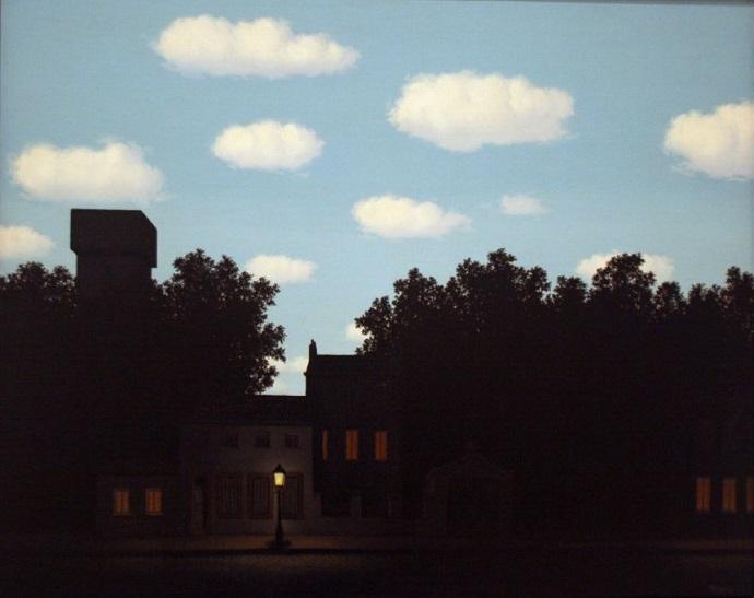 אימפריית האור II, מאת רנה מגריט. צילום: Hank