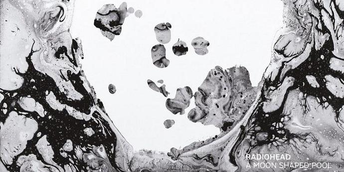 פרט מתוך עטיפת האלבום של רדיוהד, Moon shaped Pool