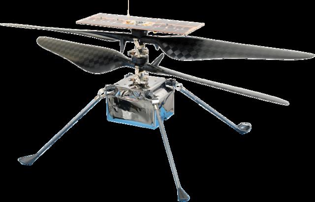 לאינג'יניואיטי שתי מערכות להבים הפוכות זו מזו. קרדיט: NASA/JPL-Caltech