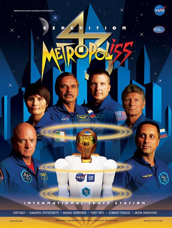 פוסטר אסטרונאוטים לפי הסרט מטרופוליס