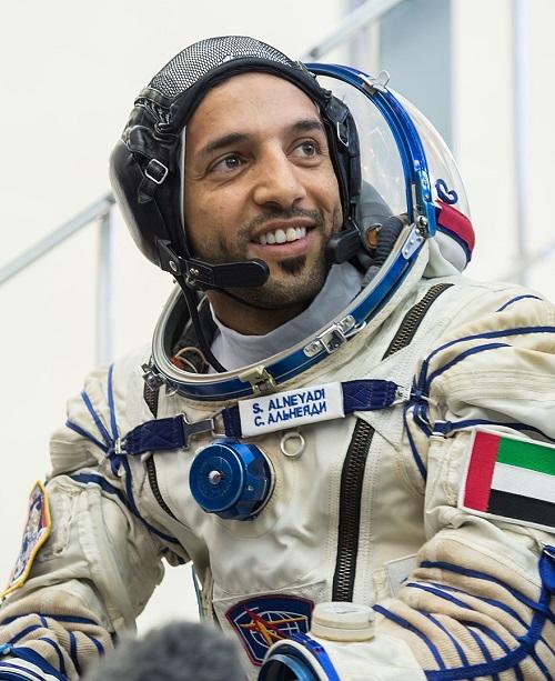 הזאע אל-מנסורי, אסטרונאוט הנסיכויות הראשון, ששוגר לתחנת החלל הבינלאומית ב-2019. קרדיט: NASA/Beth Weissinger