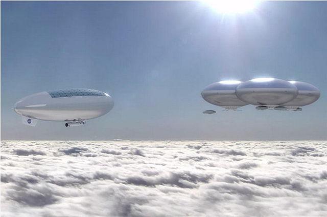"""הדמיית אומן: ערים מרחפות מעל העננים של נוגה. קרדיט: נאס""""א"""