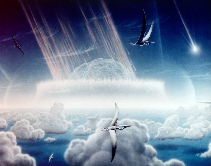 פגיעת אסטרואיד | אילוסטרציה: Donald E. Davis/NASA