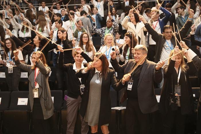 הקהל מתופף לקראת הכרזה על הזוכים | צילום אלירן אביטל