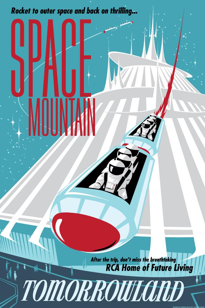 رحلة ذهاب وعودة قصيرة إلى الفضاء | بوستر من Greg Maletic
