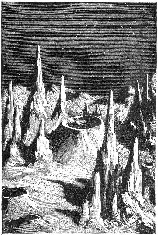 כיצד דמיינו בני אדם את פני השטח של הירח בסוף המאה ה- 19