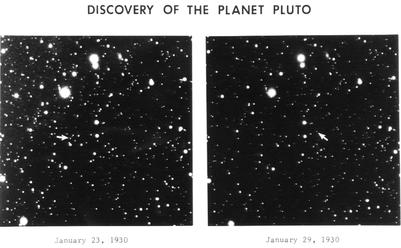 שני התצלומים של תזוזת פלוטו
