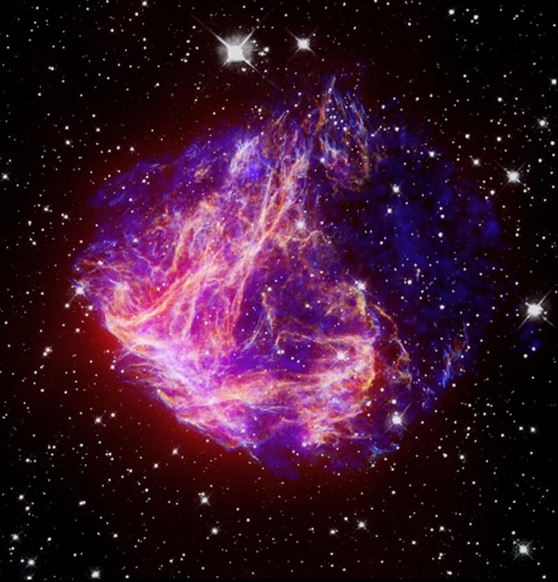 שאריות כוכבים מסופרנובה N49 | צילום: NASA