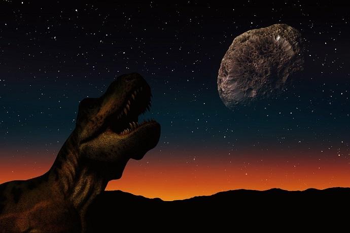 איור אסטרואיד ודינוזאור