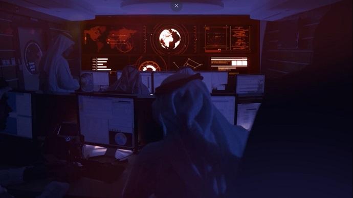 מרכז בקרת המשימה במרכז החלל מוחמד בין ראשיד בדובאי, מתוך סרטון התדמית.