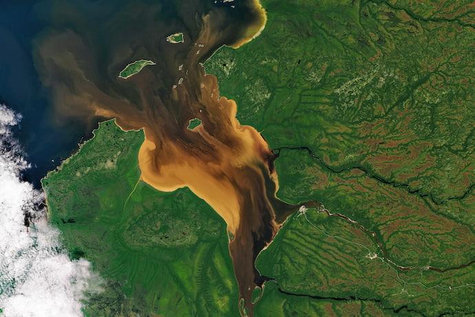 מפרץ בצפון קוויבק מהחלל