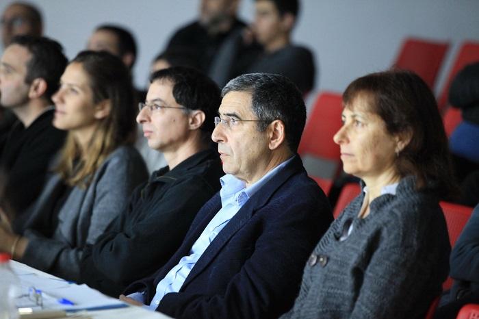 צוות השיפוט באורט עירוני ד' מודיעין באירוע חצי הגמר