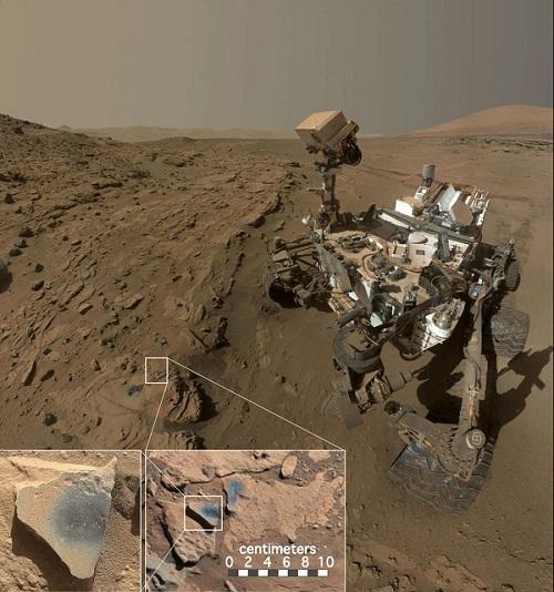 קיוריוסיטי לצד הרמזים על ריכוזי חמצן גבוה |  NASA/JPL-Caltech/MSSS