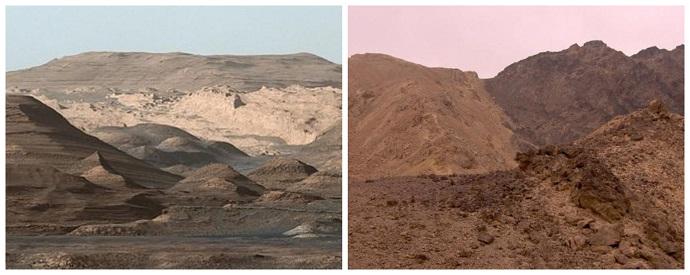 הר שארפ במאדים ומדבר הנגב