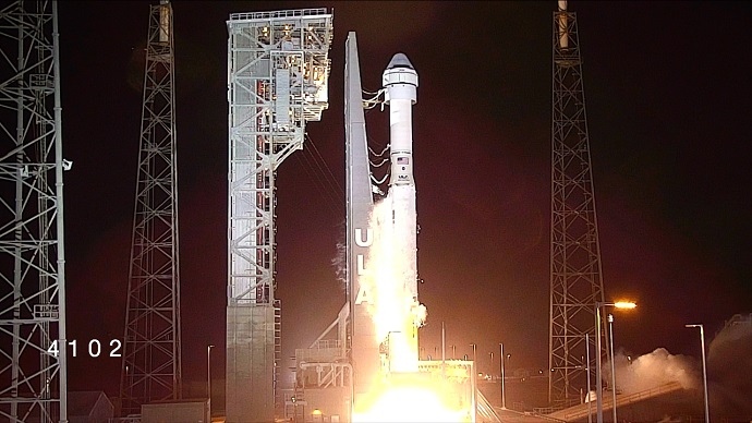 "השיגור של הסטארליינר בשישי. קרדיט: נאס""א"