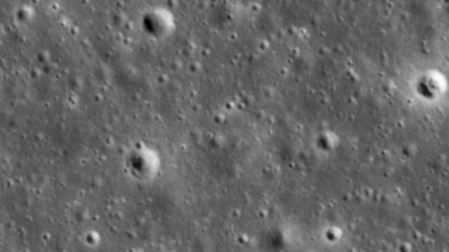 קרקע הירח לפני התרסקות החללית בראשית