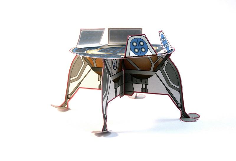 חללית בהכנה ביתית | באדיבות SpaceIL