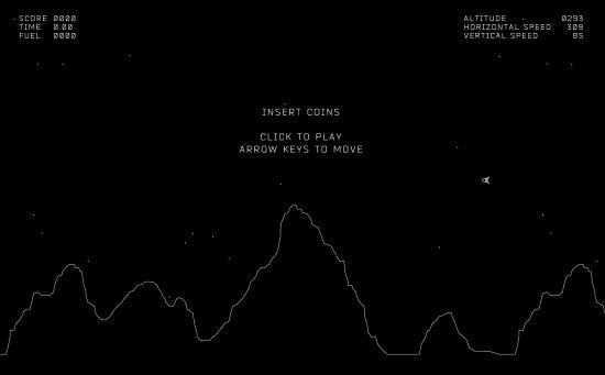 צילום מסך מתוך המשחק Moon Lander