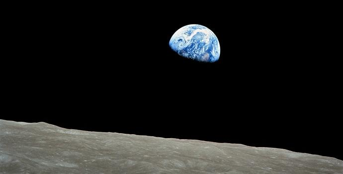 צילום כדור הארץ מהירח