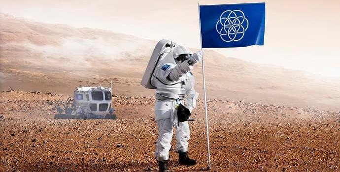 הדגל הבינלאומי של כוכב הלכת ארץ. קרדיט: אוסקר פרנפלדט בשיתוף Bsmart