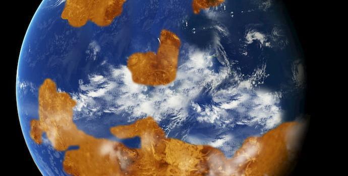 הדמיה של נוגה הקדום. קרדיט: NASA