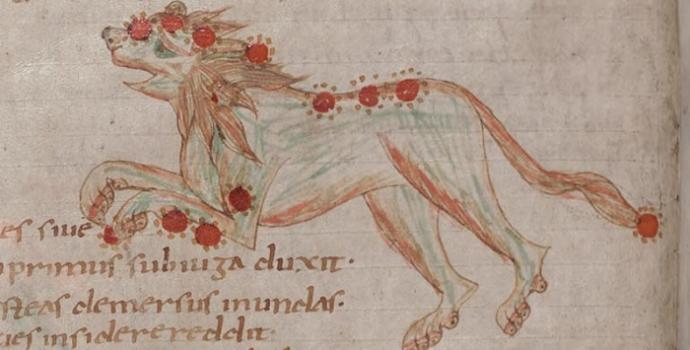 איור משנת 1150 של קבוצת אריה