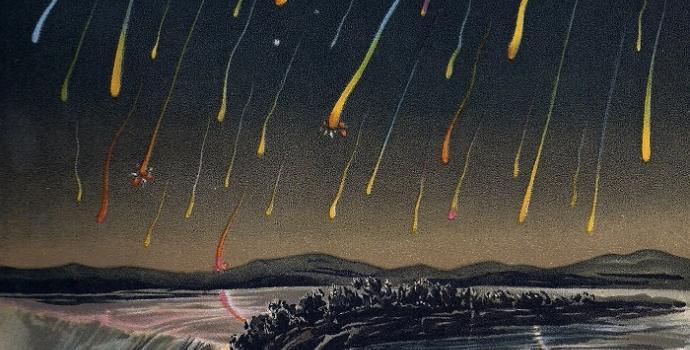 מטר הליאונידים משנת 1866 | צייר: Edmund Weiß