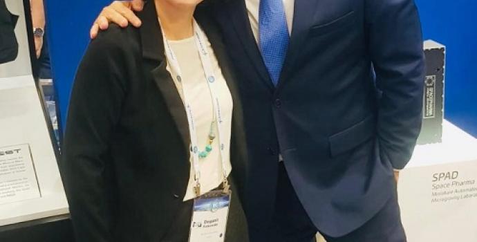 """שר המדע והטכנולוגיה, אופיר אקוניס עם ד""""ר דגנית פייקובסקי"""