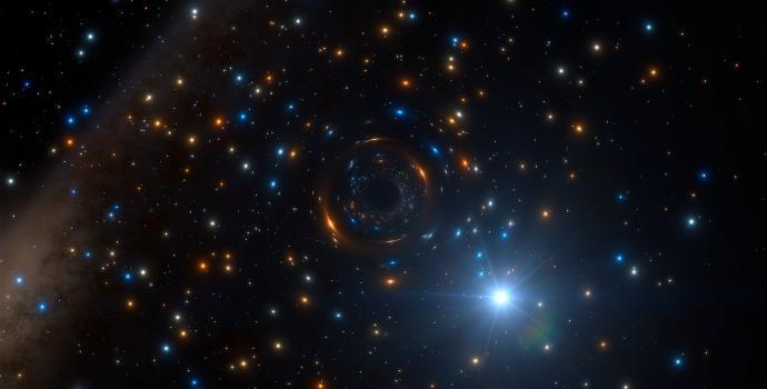 זהו את החור השחור בצביר הכוכבים