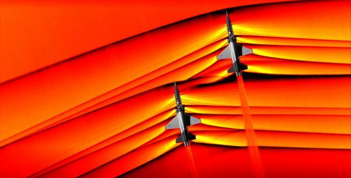 """צילומים שומטי לסתות של נאס""""א לוכדים מטוסים על-קוליים בפעולה"""