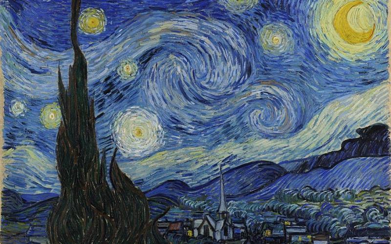 """""""ליל כוכבים"""" האיקוני של ואן גוך, אחד הציורים החשובים ביותר בתולדות האומנות"""