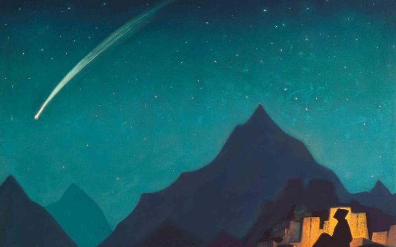 מטאור בשמים | איור (1936): Nicholas Roerich
