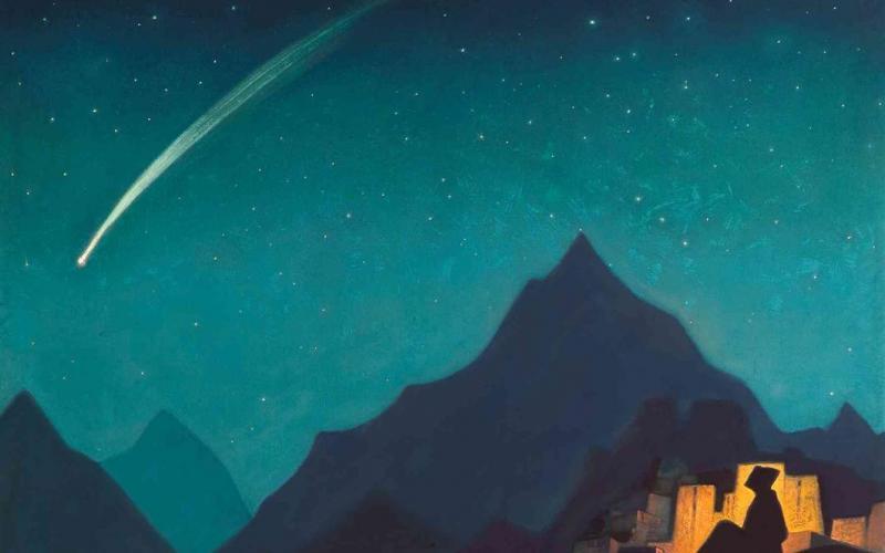 מטאור בשמיים   קרדיט: Nicholas Roerich