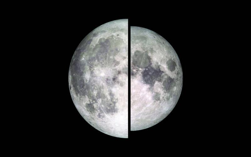 """השוואת בין """"סופרמון"""" (ירח מלא בפריגיאה, משמאל) ל""""מיקרומון"""" (ירח מלא באפוגיאה, מימין)"""