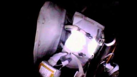 Astronauts Replace Backup Computer During Spacewalk