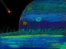 ציור כוכב לכת חוץ שמשי