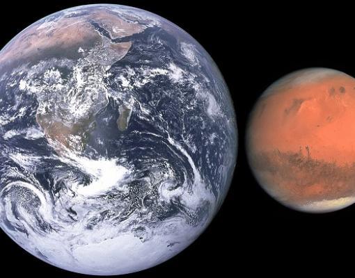 מאדים וכדור הארץ