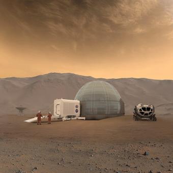 אילוסטרציה של בית במאדים. NASA