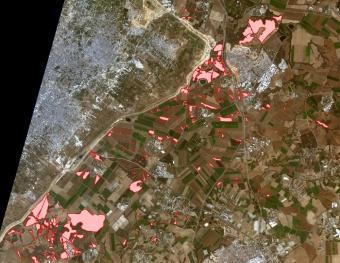 צילומים מלוויין הסביבה הישראלי מראים את היקף הנזק של השריפות בדרום