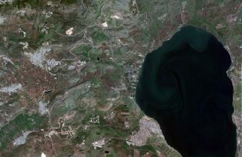 צילום הכינרת מהחלל