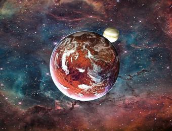 כדור הארץ הקדום: צדק אמנם רחוק אבל כוח המשיכה האדיר שלו משפיע על המסלול שלנו סביב השמש, בשילוב כוחות עם נוגה