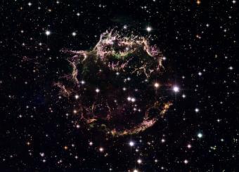 קסיופיאה A כפי שצולמה על ידי טלסקופ החלל האבל. קרדיט: NASA