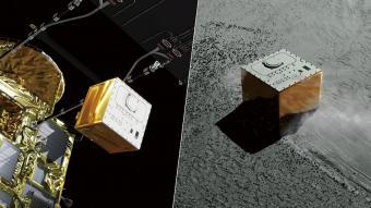 החללית היפנית משחררת את מסקוט   קרדיט: JAXA