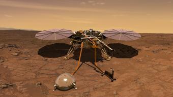 הדמיה של InSight על אדמת מאדים. קרדיט: NASA/JPL-CALTECH
