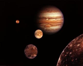 צדק וירחיו   צילום: NASA/JPL