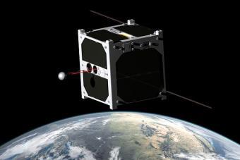 הדמיה של ננו לוויין בחלל | Erik Kulu